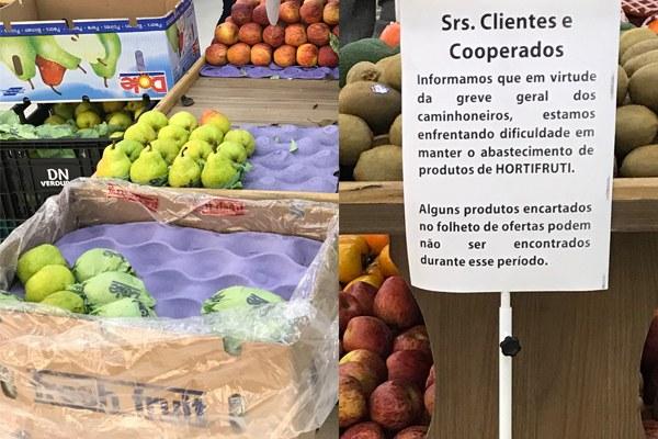 Mercados do Rudge Ramos sofrem com manifestações dos caminhoneiros; falta de produtos e compras limitadas afetam consumidores e comerciantes da região - Foto: Luchelle Furtado/RRO