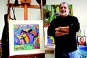 Rudge Ramos Jornal é homenageado por artista plástico
